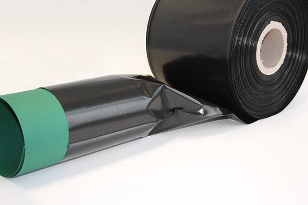 Schlauchfolie - schwarz - 100 my Folienstärke - LDPE