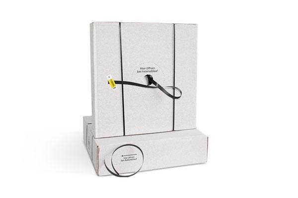 PP-Umreifungsband schwarz im Spenderkarton - 12,7 oder 16 mm Bandbreite