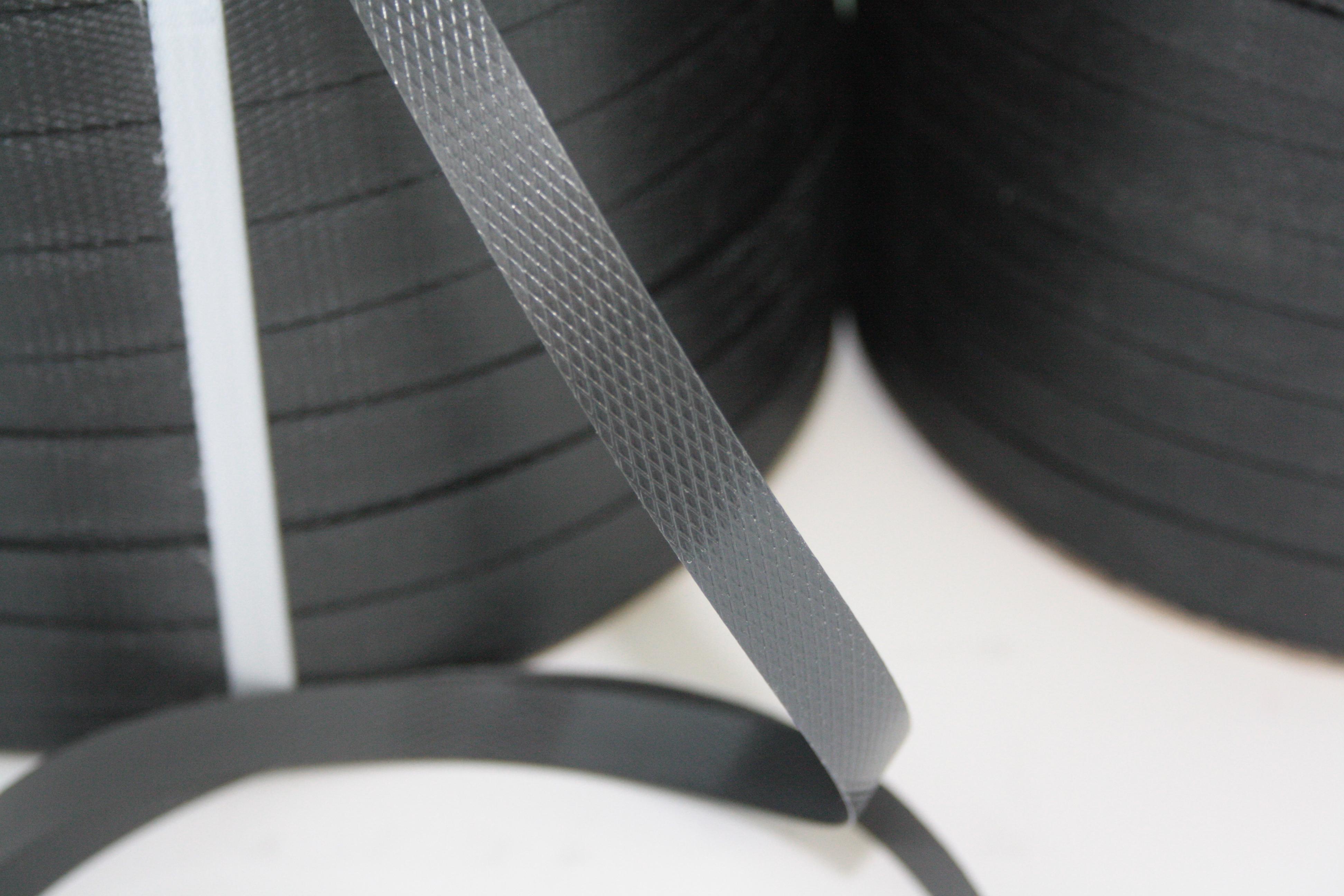 PP-Umreifungsband schwarz 12,7 oder 19 mm Bandbreite